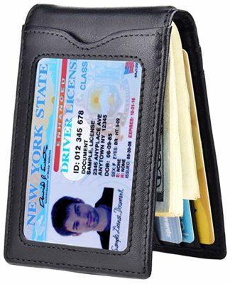 Kinzd Slim Bifold Wallet with Money Clip