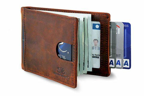 Best Front Pocket: SERMANBRANDS RFID Blocking Slim Bifold Leather Minimalist FrontPocket Wallets for Men with Money Clip without ID Window