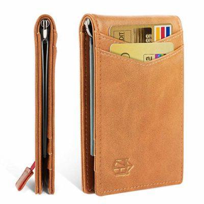 Best Minimalist:Zitahli Minimalist Slim Bifold Front Pocket Wallet with Money Clip for men, Effective RFID Blocking & Smart Design