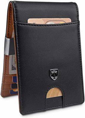 """Best Money Clip: TRAVANDO Money Clip Wallet""""RIO"""" - Mens Wallets slim Front Pocket RFID Blocking Card Holder Minimalist Mini Bifold GiftBox"""