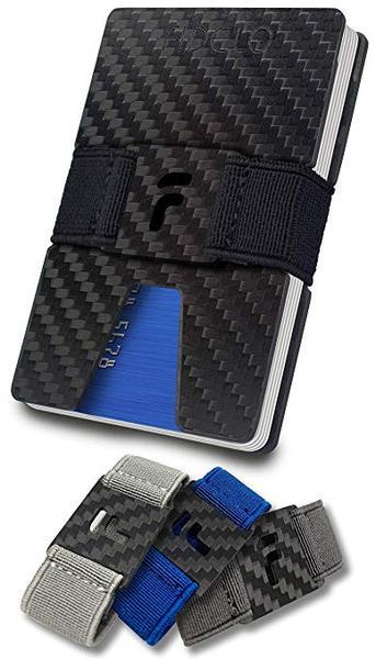 Best Slim: FIDELO Carbon Fiber Wallet with Money Clip