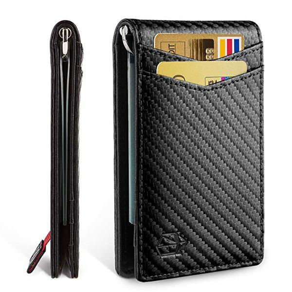 Best Bifold: Zitahli Slim Carbon Fiber Money Clip Wallet