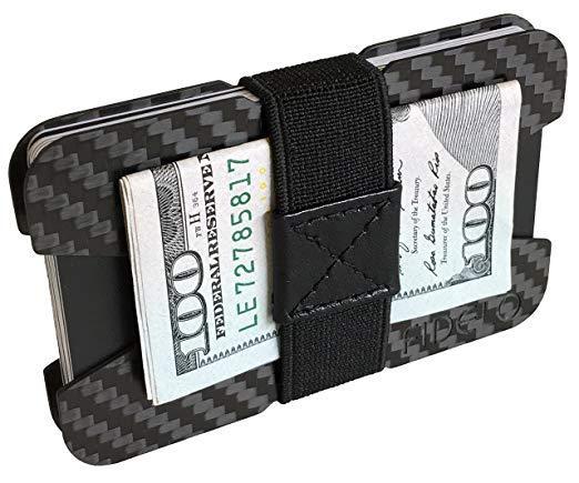 Best EDC: FIDELO Carbon Fiber Wallet with Money Clip