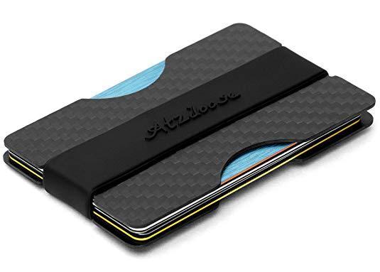 Best Card Holder: Atziloose Carbon Fiber Wallet with Money Clip