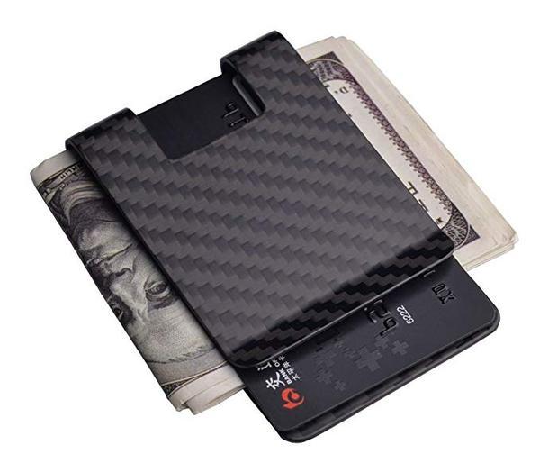 Best for Men: CL CARBONLIFE Carbon Fiber Money Clip Wallet