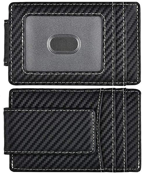 Best with Money Clip: Kinzd Carbon Fiber Money Clip Wallet