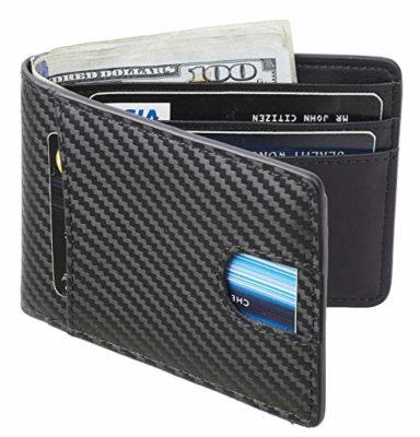 Best Bifold. Casmonal Mens Leather Wallet Slim Front Pocket Wallet Billfold RFID Blocking