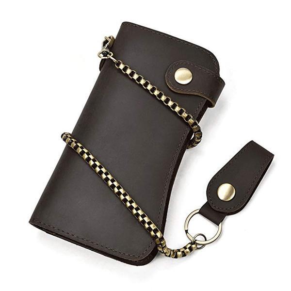 Best Shape: LUUFAN Men's Long Wallet Chain Wallet