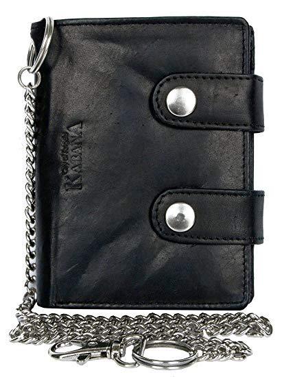 Best EDC: Kabana Men's Biker's Wallet with 45 Cm Long Metal Chain