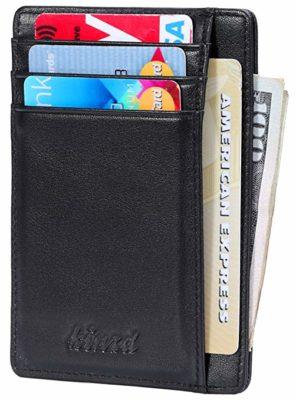 Best Overall: Kinzd Slim Wallet RFID Front Pocket Wallet