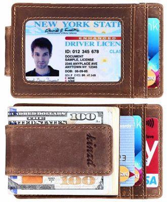 Best Money Clip: Kinzd Front Pocket Money Clip Wallet