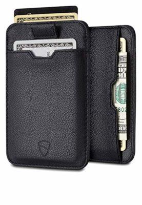 Best Ultra-slim: Vaultskin Chelsea ultra-slim leather card-protecting Front Pocket wallet