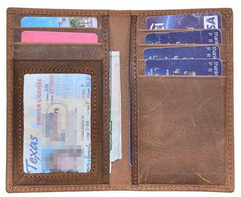 Best Card Holder: Yuhan Pretty Slim Leather Bifold Front Pocket Wallet