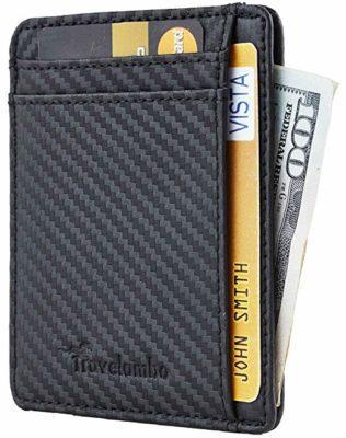 Best Minmalist: Travelambo RFID Front Pocket Wallet