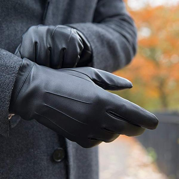 Best Overall:Downholme Classic Leather Cashmere Lined Gloves for Men