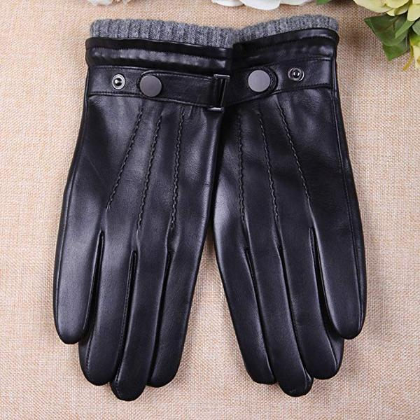 Best Budget: WARMEN Men's Texting Touchscreen Winter Warm Nappa Leather Daily Dress Driving Gloves Wool/Cashmere Blend Cuff