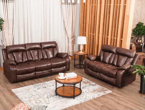 Best for Living Room: MOOSENG, 3 Piece Living Room Couch Leather Accent Chair Set Manual Reclineing Home Office (Loveseat+3-Seat) Sofas, Brown-5