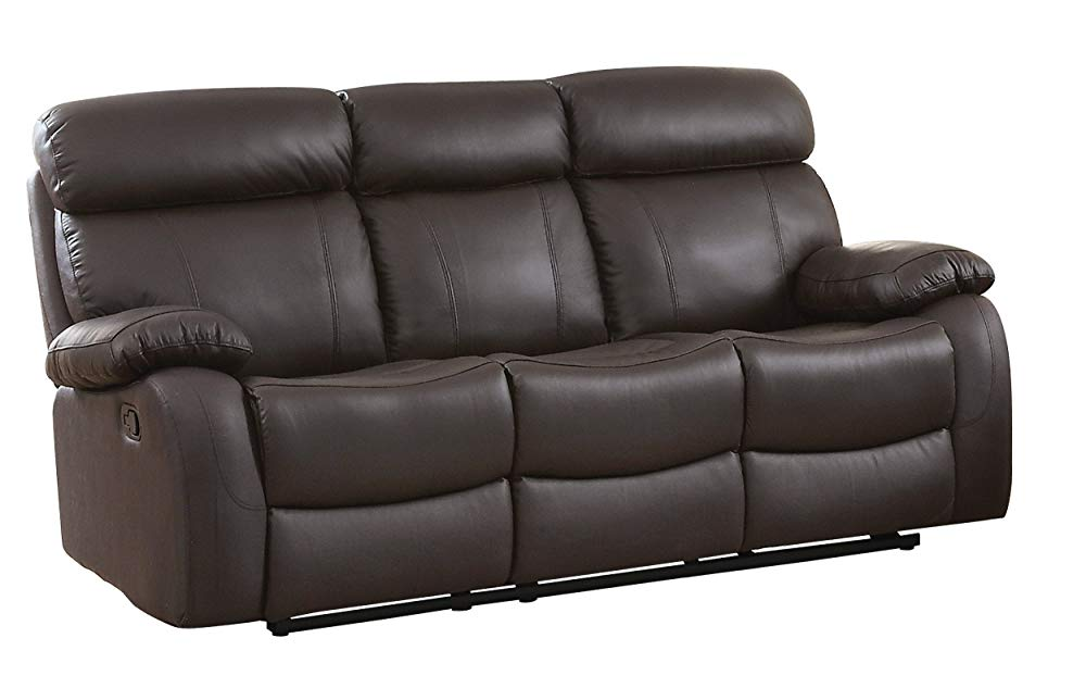 Best Elegant: Homelegance Pendu Reclining Sofa Top Grain Leather Match, Brown