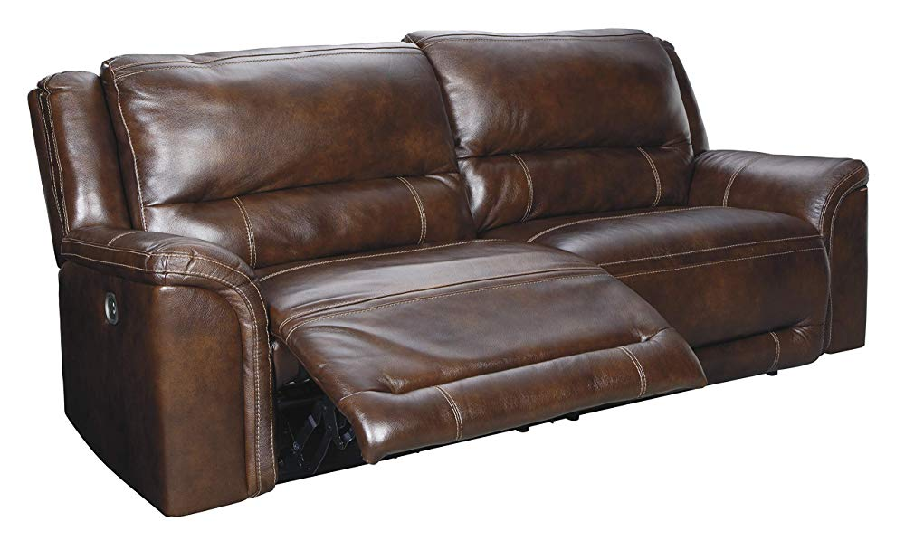 Signature Design by Ashley Catanzaro Power Reclining Sofa, Mahogany