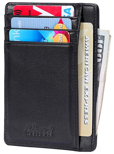Best Overall: Kinzd Slim Leather Wallet for Men