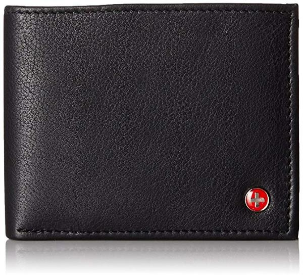 Best Classic: Alpine Swiss Mens Leather Flipout ID Wallet