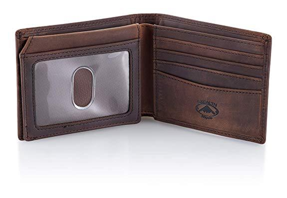Best Gift for Dad: Stealth Mode Leather Bifold Wallet for Men