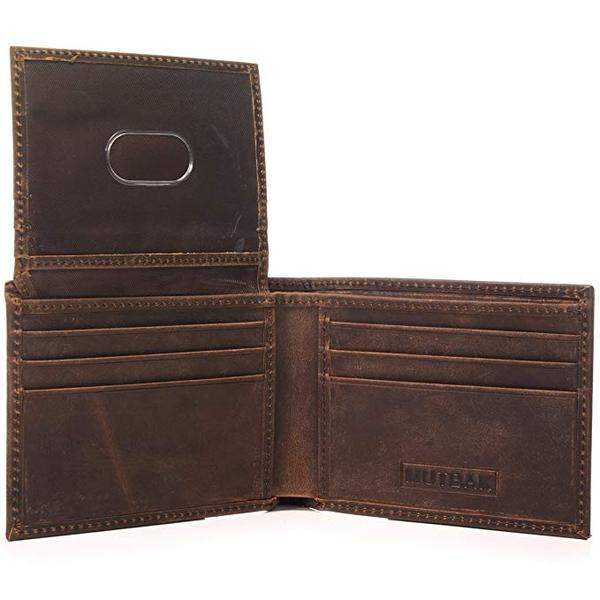 Best for Security: MUTBAK Citadel - Passcase Bifold Leather Wallet