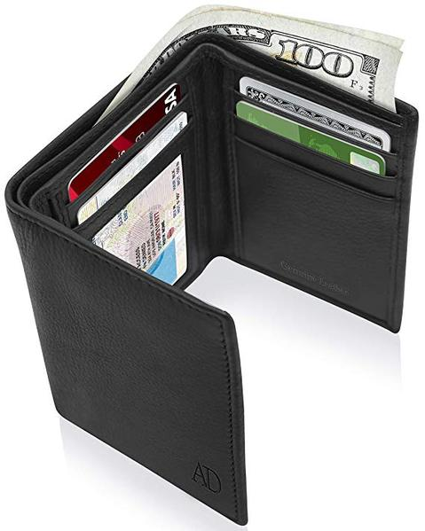 Best for Commuters: Access Denied Trifold Leather Wallets For Men