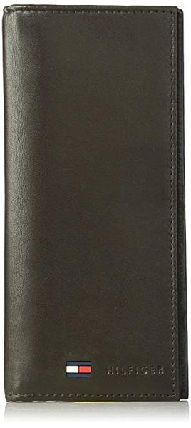 Best Multipurpose: Tommy Hilfiger Leather Secretary Wallet - Slim Long Multipurpose Versatile Vertical Bifold Checkbook Cover