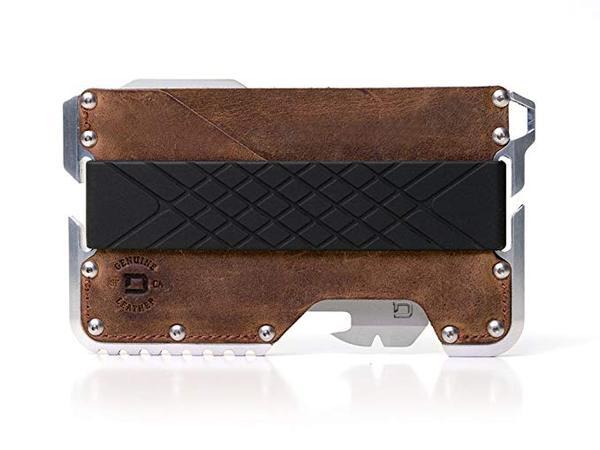 Best Tactical: Dango D01 Dapper EDC Wallet - Made in USA - Genuine Leather, CNC Alum, RFID Blocking