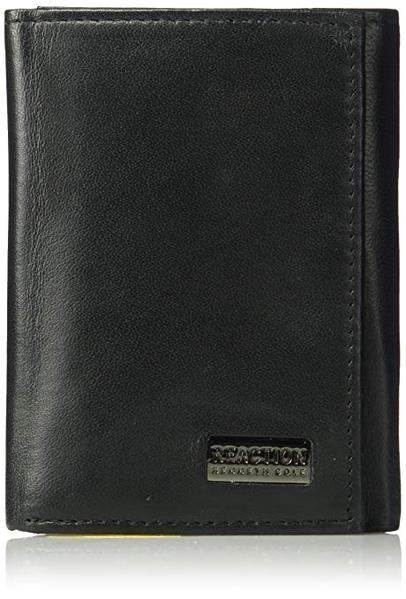 Best Trifold: Kenneth Cole Reaction Men's Wallet - RFID Blocking Security Genuine Leather Slim Trifold with ID Window and Card Slots