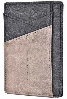 Best Budget: Spiex Slim Wallet Front Pocket Minimalist Genuine Leather RFID Blocking Card Holder