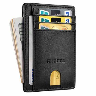 Best Front Pocket: RUNBOX Minimalist Slim Wallet for Men
