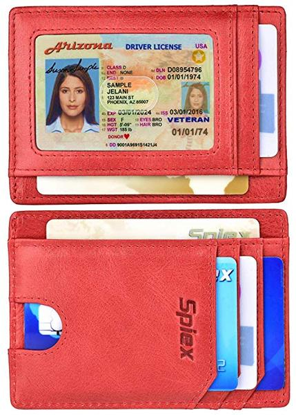Best Budget: Spiex Slim Wallet for Women Leather Card Holder