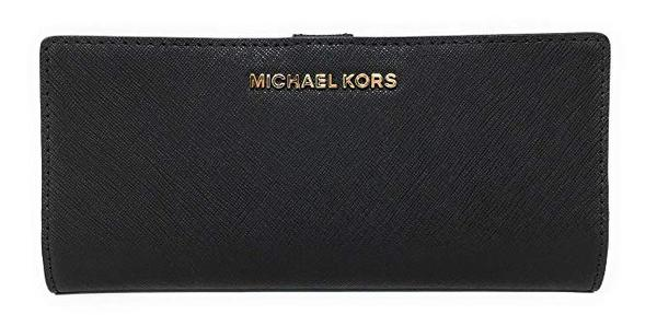 Best Classic: Michael Kors Jet Set Travel Flat Slim Bifold Saffiano Leather Wallet