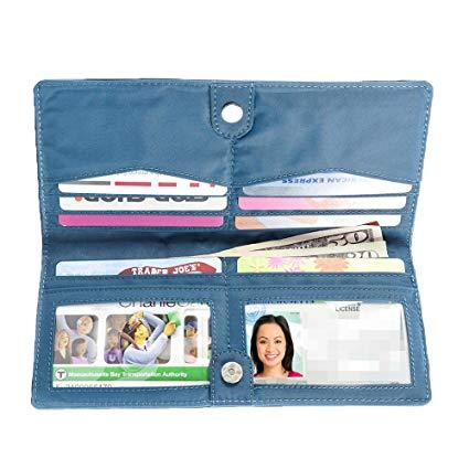 Best Storage: Big Skinny Women's Executive Bi-Fold Checkbook Slim Wallet, Holds Up to 40 Cards