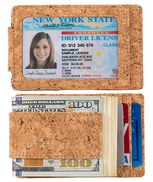 Best Money Clip: Kinzd Vegan Wallet with Money Clip