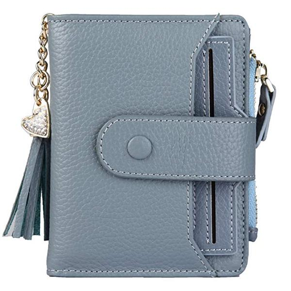 Best Soft: ZOOEASS Women's Mini Soft Leather Bifold Wallet With ID Window