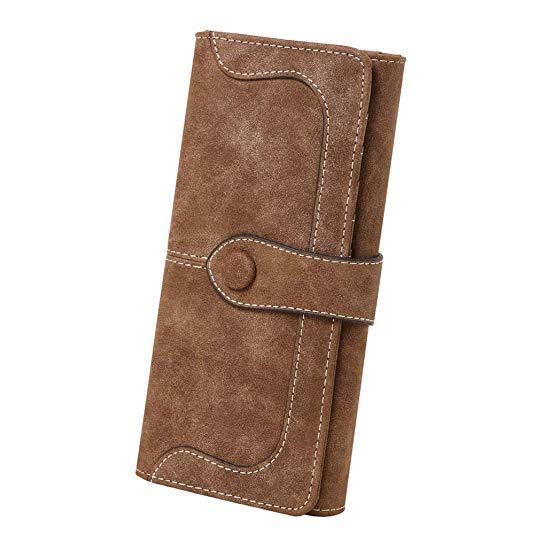 Best Retro: Cynure Women's Vegan Leather Long Big Bifold Wallet