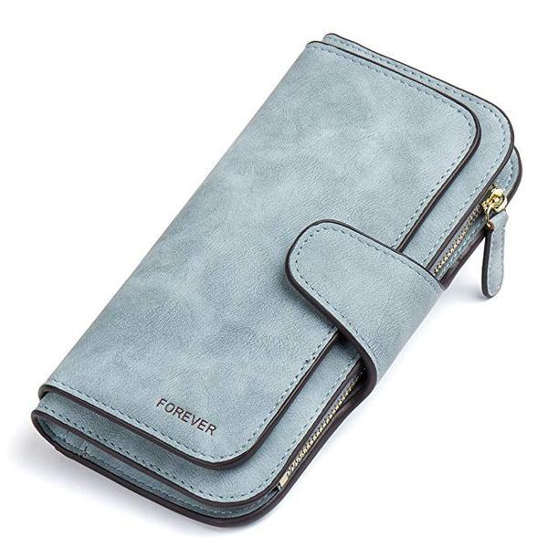 Best Classic:CLUCI Wallet for Women Leather Designer Bifold Long Ladies Credit Card Holder Organizer Ladies Clutch