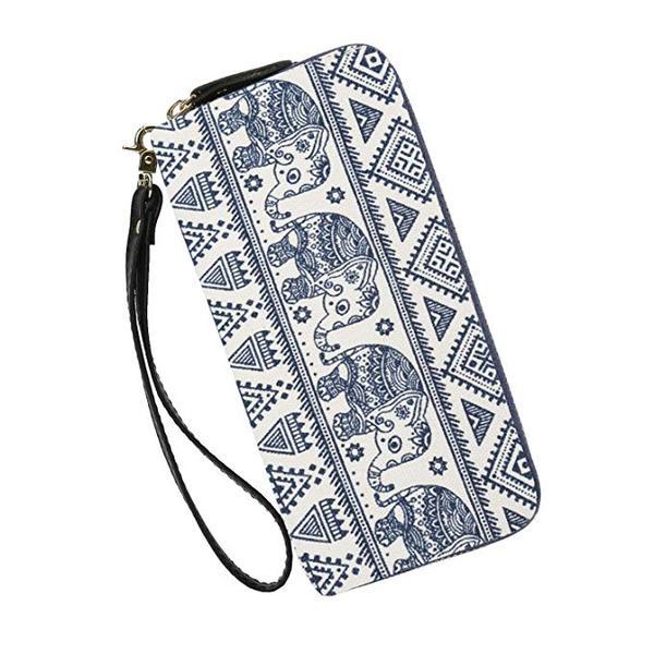 Best Phone Holder: Très Chic Mailanda Wallets Clutch Women Bohemian - Zipper Phone Wristlet Wallet Purse With Handle