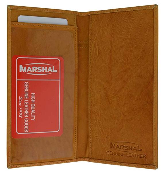 Best Soft Leather: Marshal Brand New Hand Crafted Genuine Soft Leather Checkbook Cover simple-156