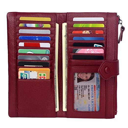Best for Versatility: Bveyzi Womens Credit Card Wallet with Zipper Pocket