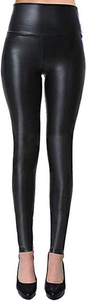 Best for Vegan:VIV Collection Womens Sexy Tight Fit Faux Leather High Waisted Leggings