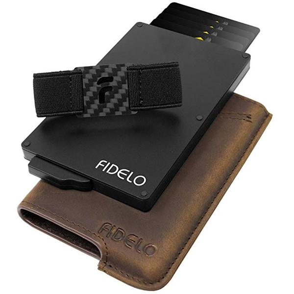Best Card Holder: FIDELO Minimalist Aluminum Wallet for Men
