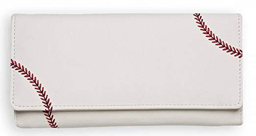 Best for Women: Zumer Sport Baseball Leather Ball Material Women's Wallet