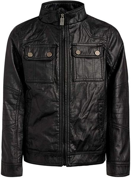 Best Budget: Urban Republic Boy's Faux Leather Officer Jacket