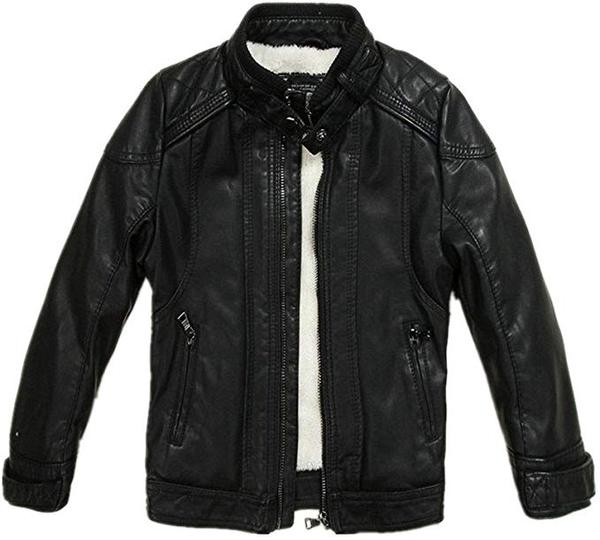 Best for Vegan: LJYH Boys Leather Jacket PU Leather