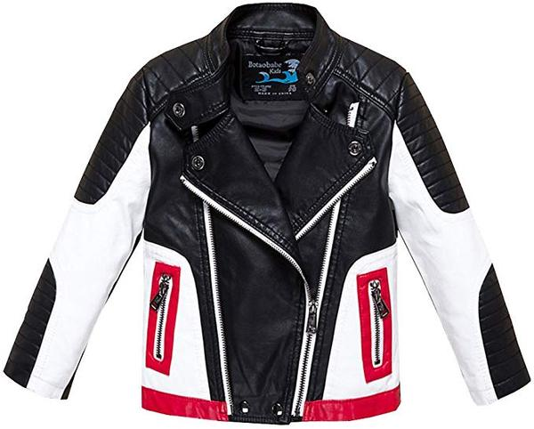 Best for Motorcycle: Budermmy Boys Leather Motorcycle Pilot Jacket