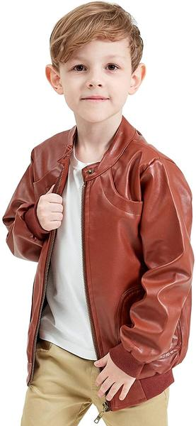 Best Stand Collar: Encontrar Faux Leather Jacket for Boys